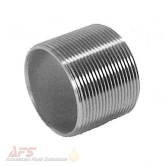 316 SS Stainless Steel Close Nipple Equal BSPP Male Threads